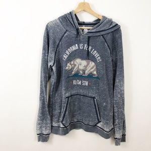 Volcom Burnout California is for Lovers Hoodie M